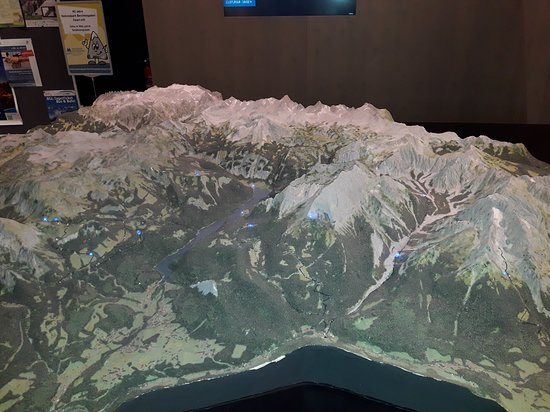 Nationalparkzentrum - Haus der Berge: An awesome model of the NP Berchtesgaden with all the chalets, trails and attractions marked up