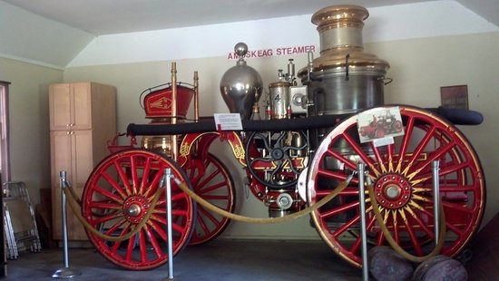 Wolfeboro, Nueva Hampshire: 1870s Amoskeag steam powered fire engine