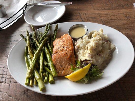 Fulton, MD: Canadian Salmon,asparagus, garlic redskin mashed potatoes
