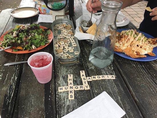 Gina's: Chesapeake Nachos, fun at outside table