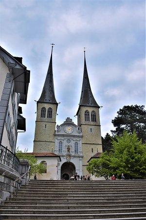 Kanton Luzern, Schweiz: Church of St Leodegar