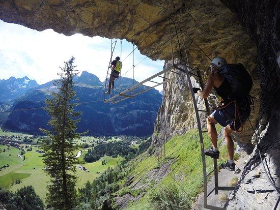Klettersteig Allmenalp : Zaujimave rebriky picture of kandersteg allmenalp klettersteig