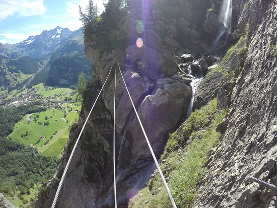 Klettersteig Allmenalp : Kandersteg allmenalp klettersteig bild von