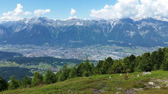 Blick nach Innsbruck vom Patscherkofel