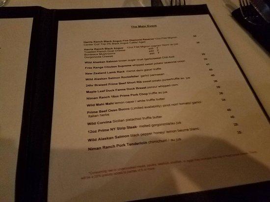 Chef Adrianne's Vineyard Restaurant and Wine Bar: Menu