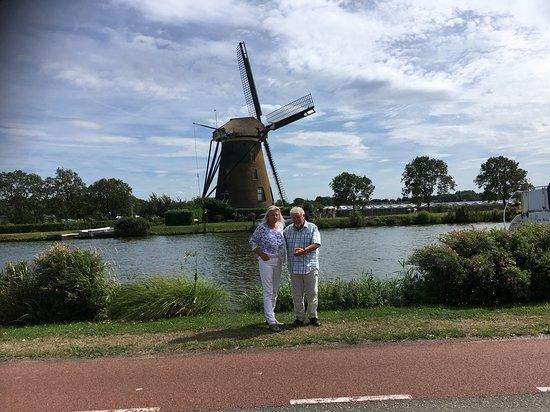 South Holland Province, The Netherlands: Googer Molen uit 1717, nabij Roelofsarendveen