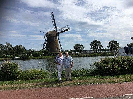 Hollande du Sud, Pays-Bas : Googer Molen uit  1717 in de omgeving van Oude Wetering
