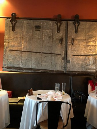 B & B Butcher & Restaurant - Houston: 1920s doors from the original bakery