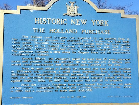 Corfu, NY: historic marker just to the left of the Pembroke Travel Plaza entrance