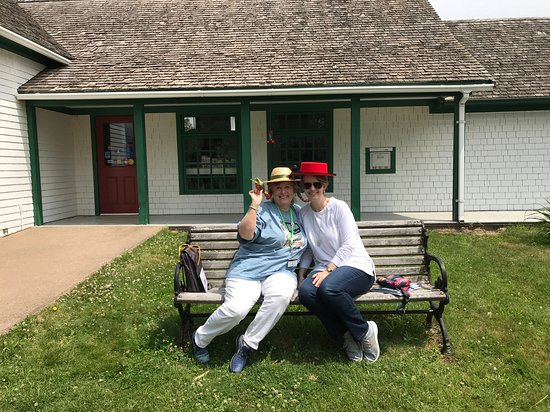 Take the Island Adventure Day Tours : My mom and me at the Cavendish Post Office....props compliments of Bill!