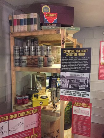 Isle of Wight County Museum: The fallout shelter in the basement