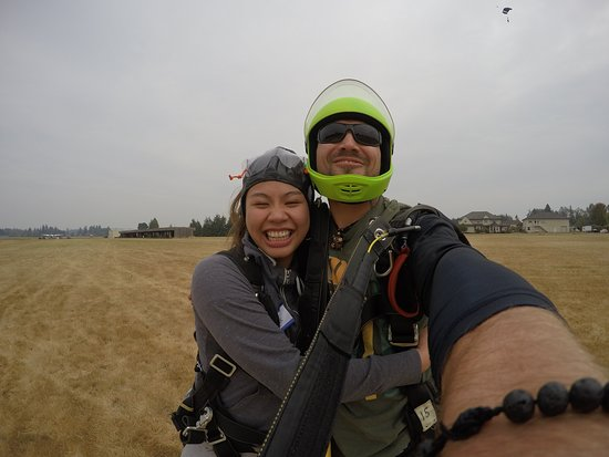 Skydive Oregon Inc: Big hugs, for a great ride, experience and a happy birthday to myself!