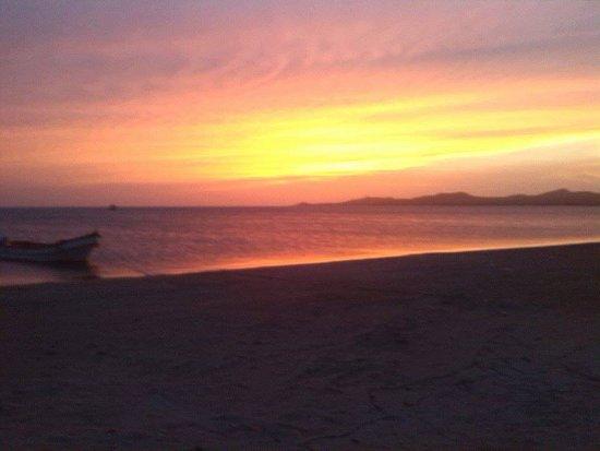 the nice sunset in cabo de la vela