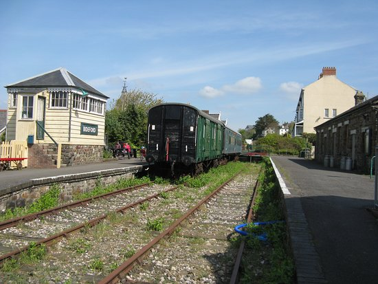 Bideford Railway Heritage Centre - with signal box on the left