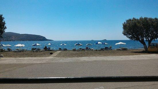 Léros, กรีซ: Gourna beach, Leros, vista dalla taverna Gourna