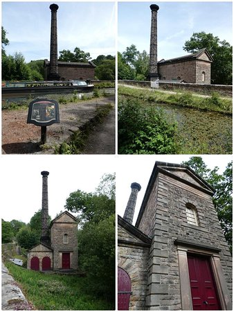 The Cromford Canal, Derbyshire: the Leawood Pump House, built in 1849.