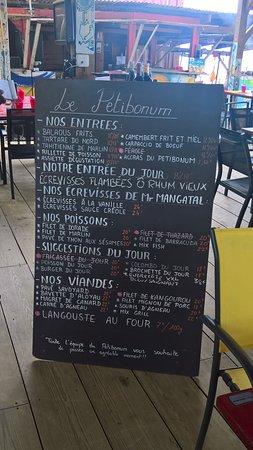 Le Petibonum: ardoise menu