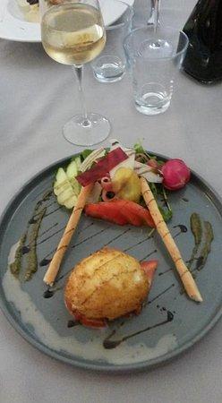 Peyreleau, France: Entrée à la mozzarella