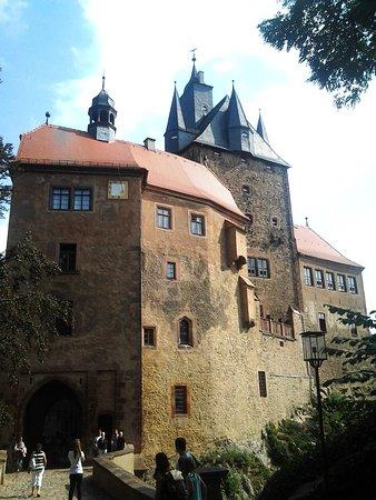 Kriebstein, Deutschland: Der Zugang zur Burg