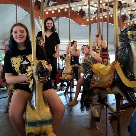 Conneaut Lake, PA: Antique carousel.