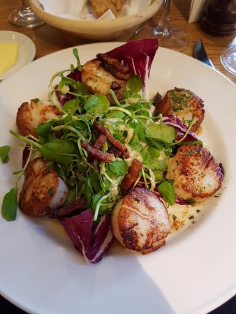 The Opposition Bistro: Came early so we were able to get a seat! The scallops were fantastic! The lamb melted off the b