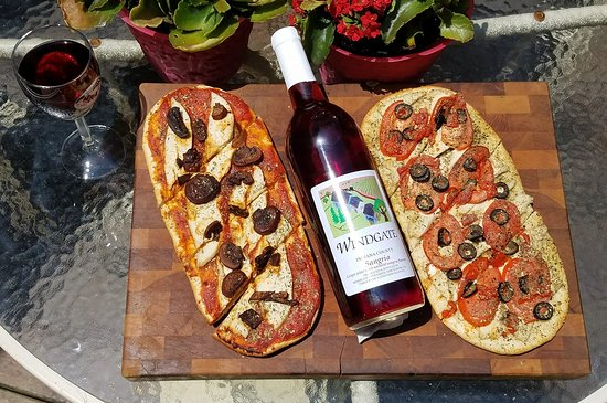 Smicksburg, PA: One of our chef's specialties now are individual pizzas that go great with Windgate wines.