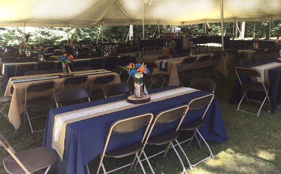 Smicksburg, PA: Windgate can provide outdoor weddings. Here is a recent setup.