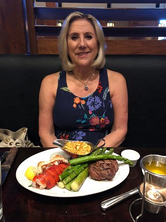 Carvers Steaks and Seafood: 16th Anniversary Bride with Steak and Lobster meal