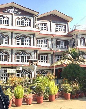 Hetauda, Nepal: Motel Avocado & Orchid Resort (Left half part of the hotel building is missing!)