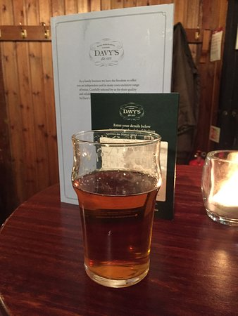 Grapeshots: Old Wallop is the usual house cask ale at Davy's and it's nothing special but not bad.
