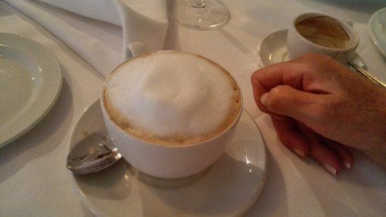 Hastings on Hudson, NY: Cappuccino (in upscale restaurant?)