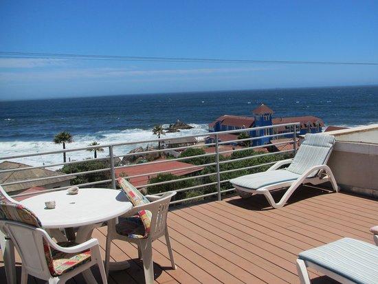 Las Cruces, Chile: Linda terraza con vista al mar