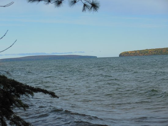 Red Cliff, WI: Frog Bay with Apostles in the distance