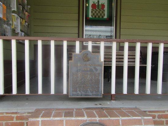 Plaque in Front of Julian Town Hall, Julian, CA