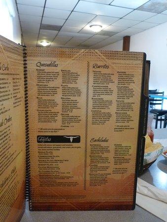 Butler, MO: A very extensive menu