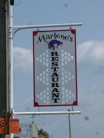 Williamsburg, MO: No mistaking it, it is Marlene's Restaurant