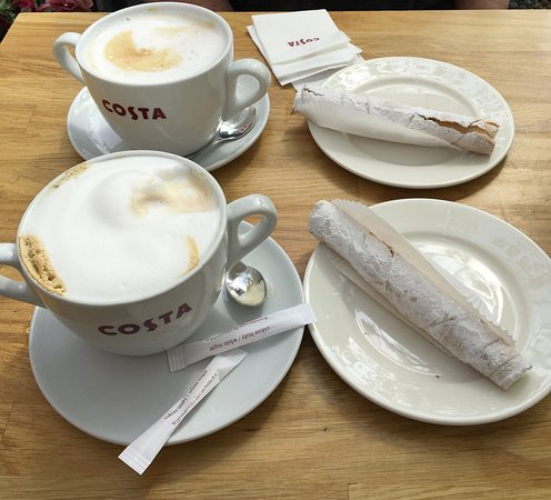 Costa Coffee : lovely coffee in really big cups ...