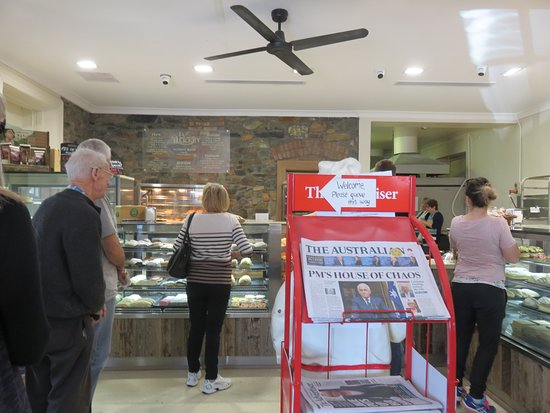 Port Elliot, Australia: Inside the busy Bakery at Lunch time