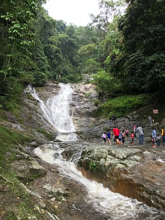 Tapah, Malaysia: Waterfall in June, from the road
