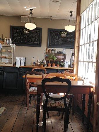 Inside of cafe