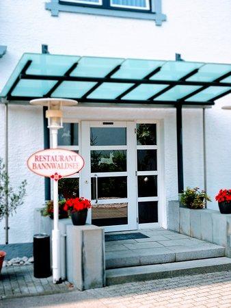 Hotel Bannwaldsee: Restaurant-Eingang