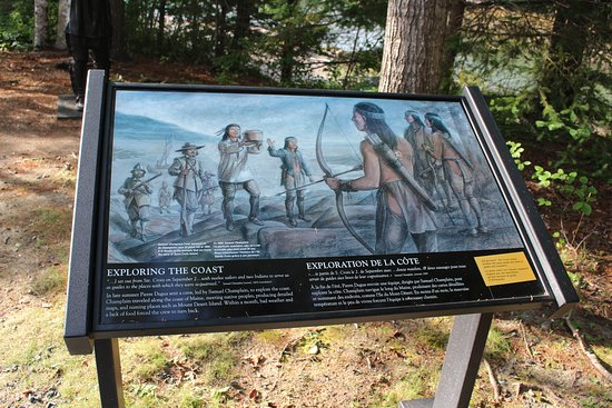 St Croix Island Historical Site: interactive signs
