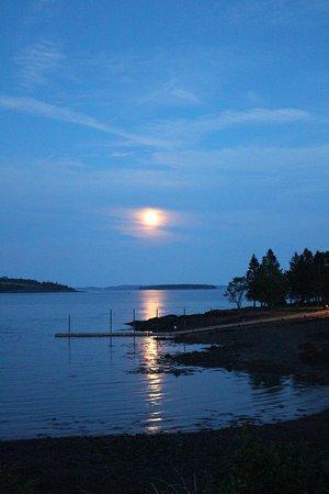 Robbinston, ME: almost full moon