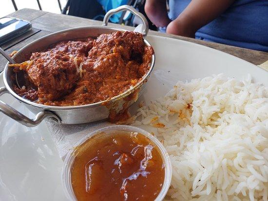 Swizzle Inn: Rupa's Butter Chicken Masala Curry (yummy)
