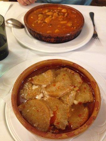 sopa castellana y judiones de la granja