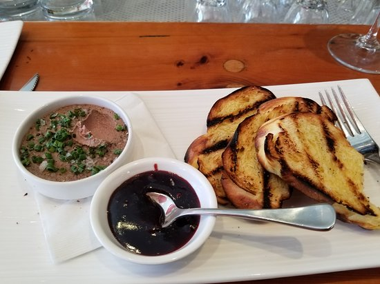 Play Food & Wine: Duck liver mousse with cherry molasses and grilled challah. Heavenly.