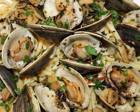 Normandy Beach, NJ: linguine and clams