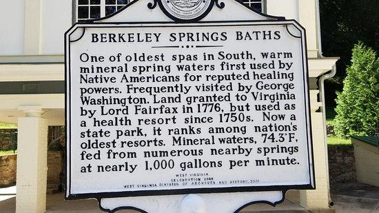 Berkeley Springs State Park: Historical Marker