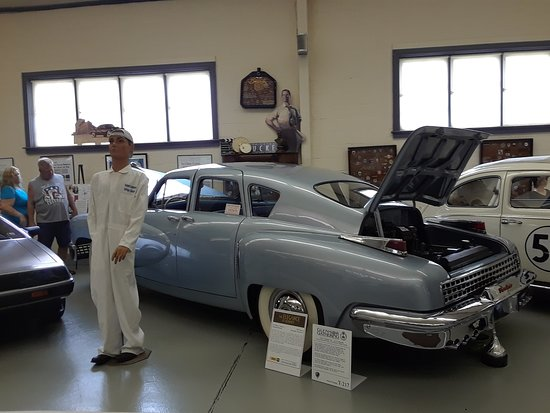 """Swigart Auto Museum: One of the two Tuckers and """" friend """""""