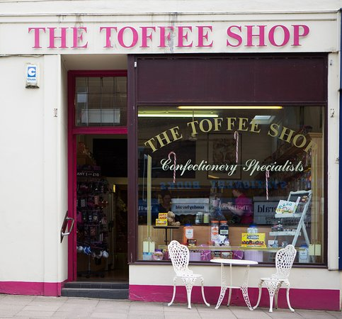 The Toffee Shop, Castle Douglas, old fashioned sweet shop.